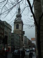 Cheapside, London and St Mary-le-Bow today (photographed March 2005).