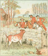 "Bull-calf from ""Jovial Huntsmen"" (Routledge edition). Click to enlarge."