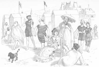 French bathers in their peignoirs, Trouville, 1879