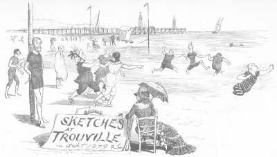 Trouville sur mer, 1879: French bathers' behaviour very different from English